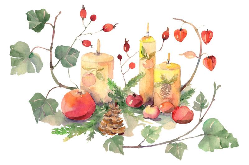 christmas-bouquet-watercolor-png