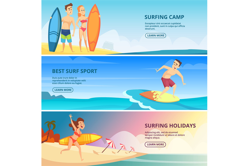 surfing-banners-illustrations-surfers-people-vector-design-templates