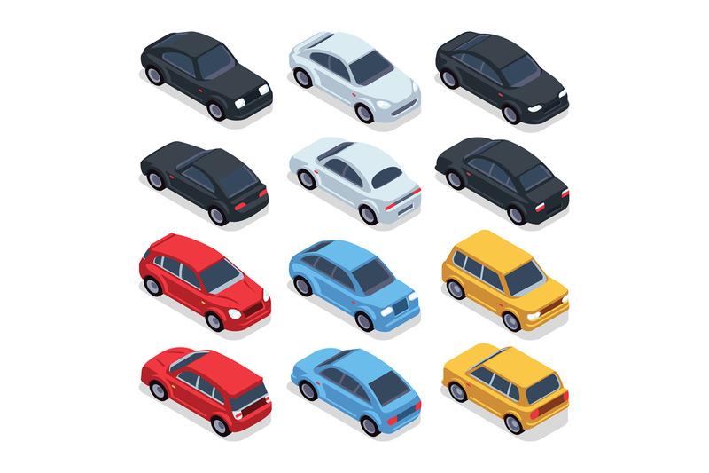 isometric-3d-cars-transportation-technology-vector-vehicles-set