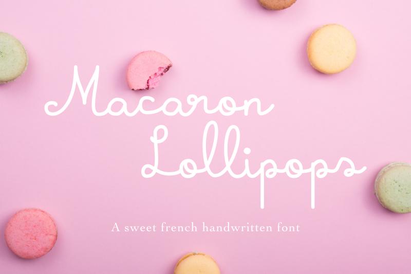 macaron-lollipops