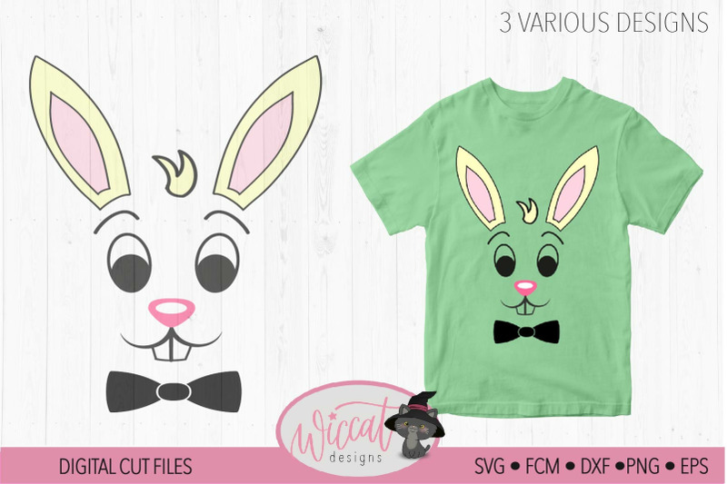 easter-boy-bunny-face-with-bow-tie-easter-shirt-design