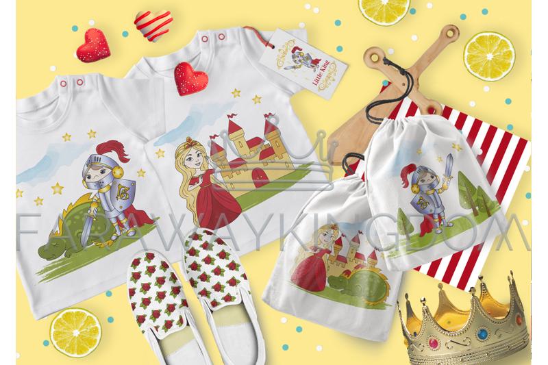 little-king-cartoon-fairy-tale-vector-illustration-set