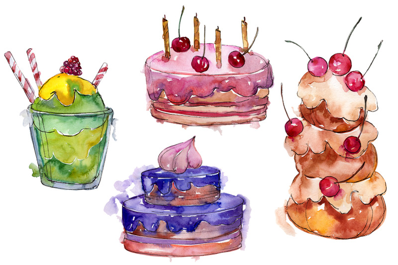dessert-sweet-paradise-nbsp-watercolor-png