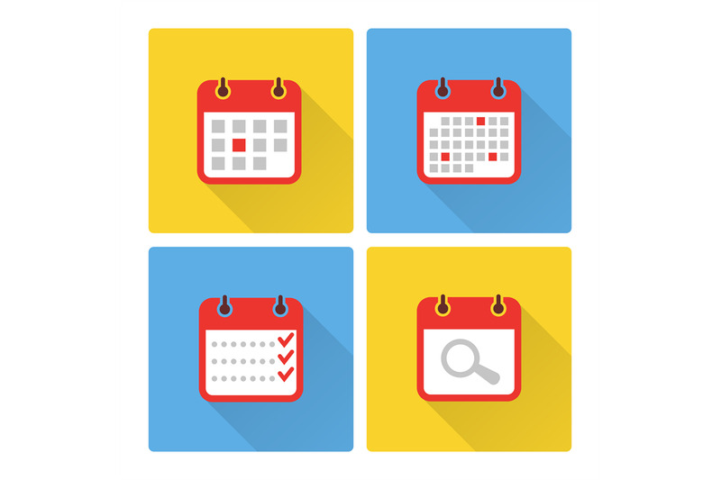 calendar-and-to-do-list-colorful-flat-icons