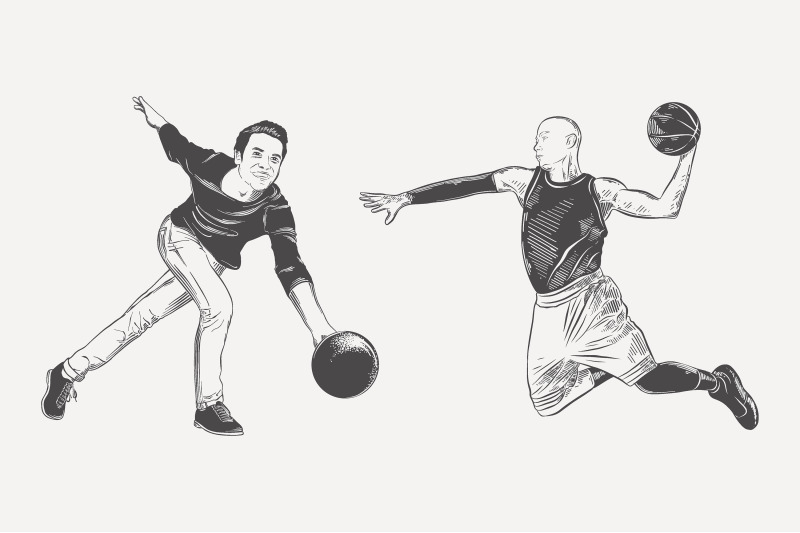 players-and-spotsmen-sketches