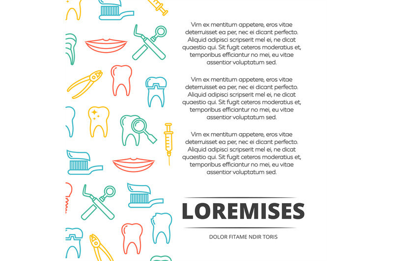 dental-poster-design-with-colorful-icons