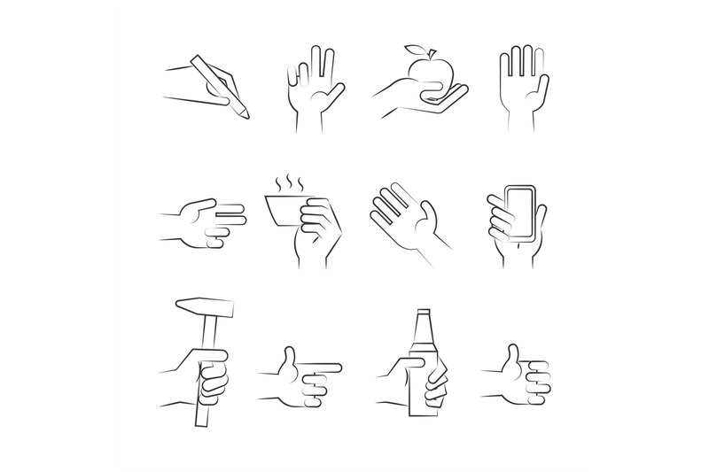 hand-drawn-hand-icons-with-tools-and-other-objects