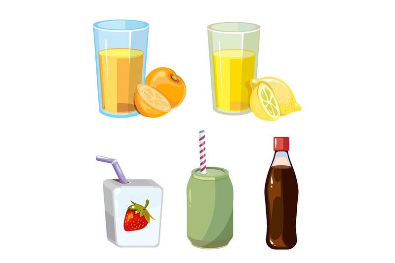popular-summer-drinks-cartoon-style