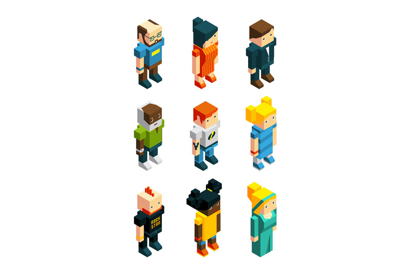 3d-low-poly-peoples-isometric-user-icons-set