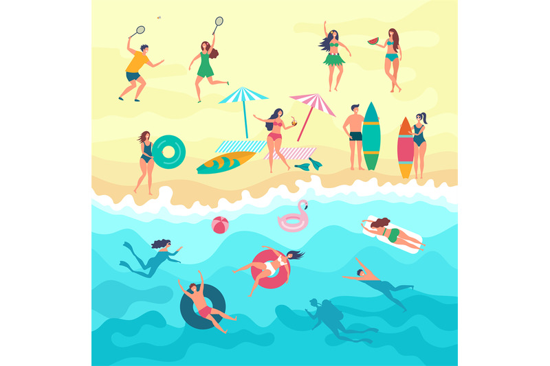 vector-background-with-various-peoples-male-female-and-kids-playing-o