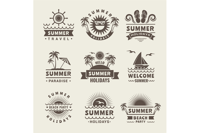 summer-badges-vector-monochrome-labels-of-summer-time-tropical-illus
