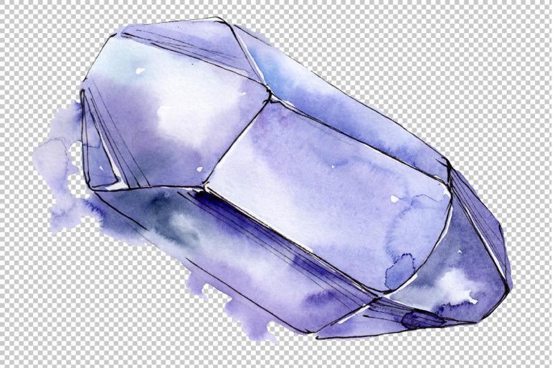 crystals-blue-watercolor-png