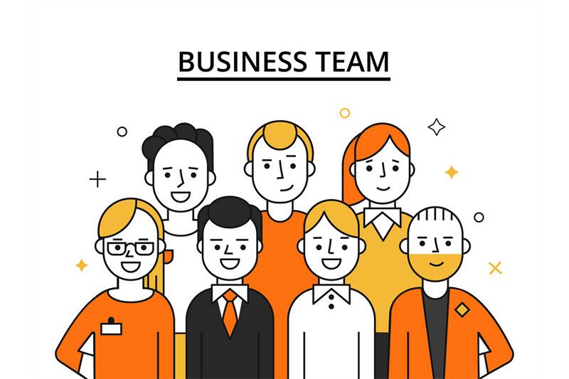 stylized-illustrations-of-business-team-concept-picture-of-successful