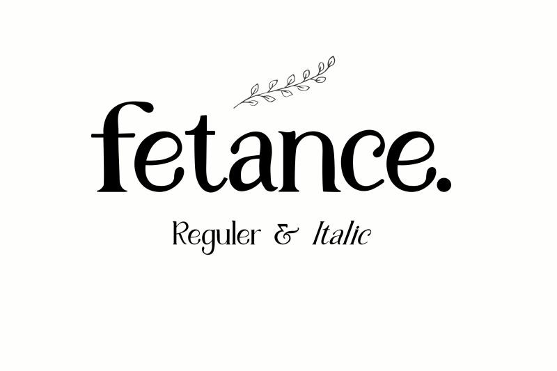 fetance-serif-font