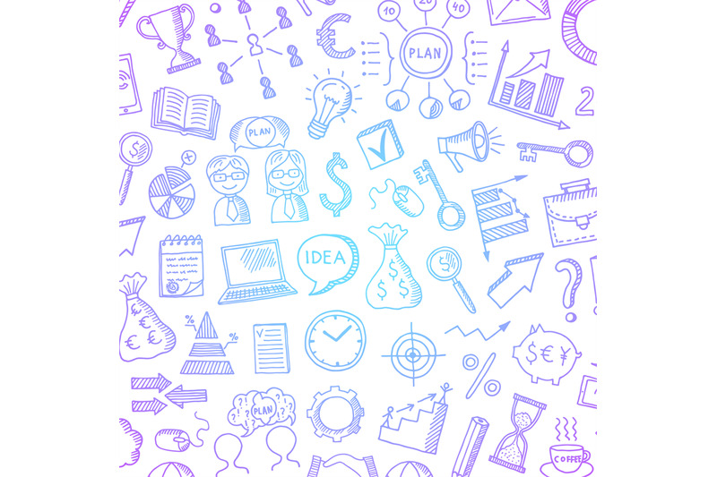 vector-business-doodle-icons-background-with-place-for-text-illustrati