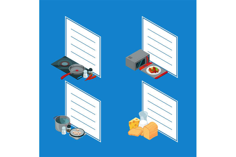 vector-cooking-food-isometric-objects-stickers
