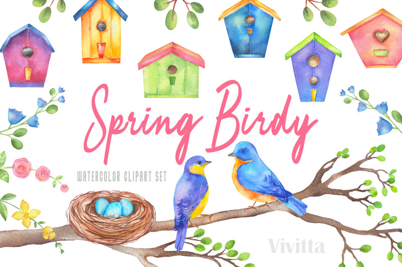 watercolor-spring-birdy-clipart-set