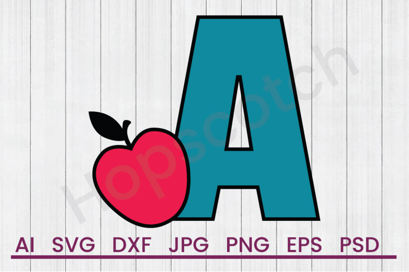 a-for-apple-svg-file-dxf-file