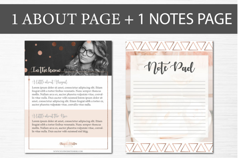 Canva Opt-In Freebie Templates Rose Gold By Lady Boss Studio