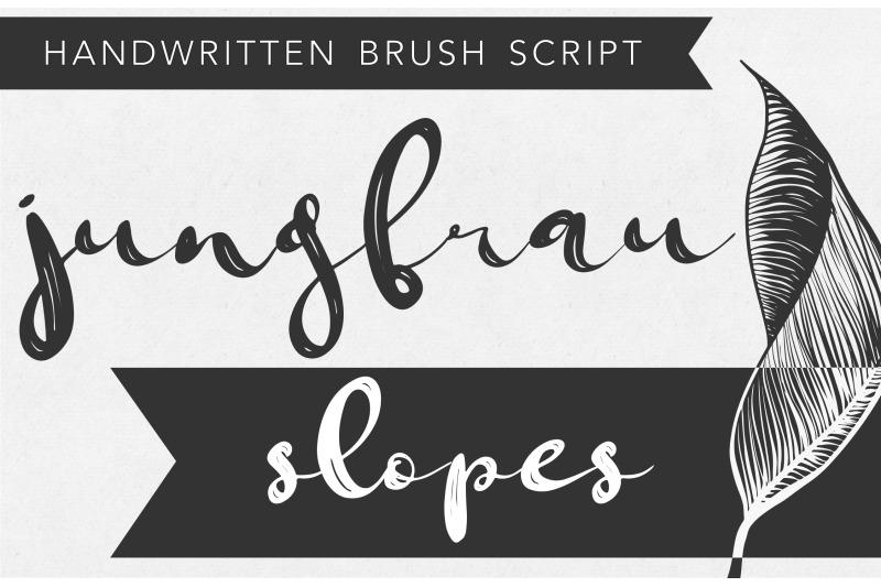 jungfrau-modern-calligraphy-brush-script