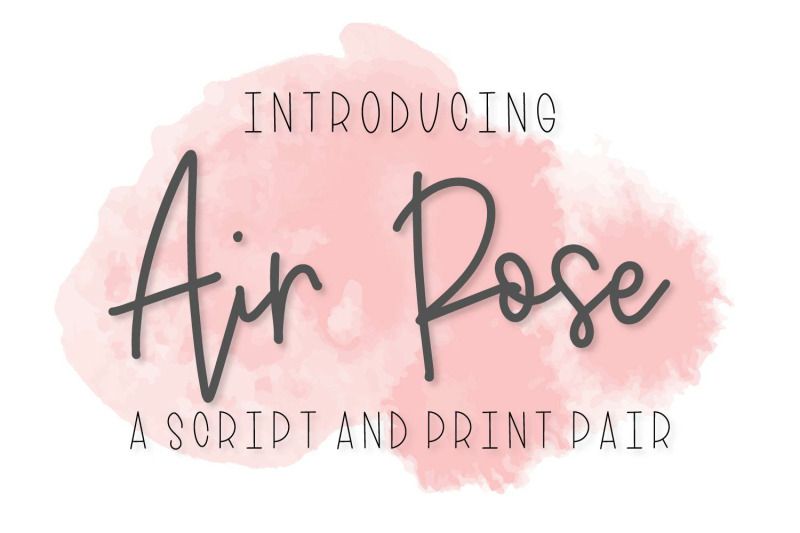 air-rose-a-script-amp-print-pair