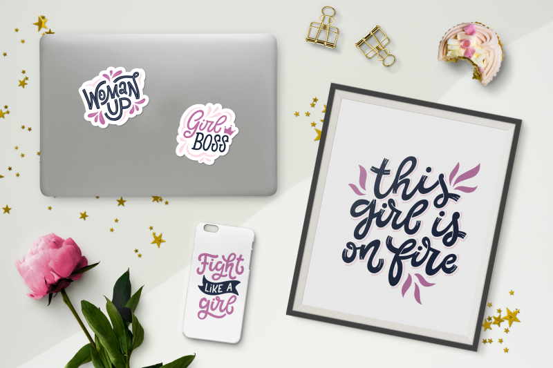 girl-power-set-of-20-stickers