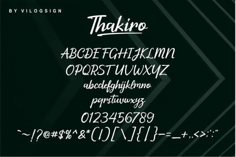 thakiro-modern-script-font