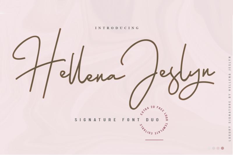 hellena-jeslyn-font-duo-free-logo