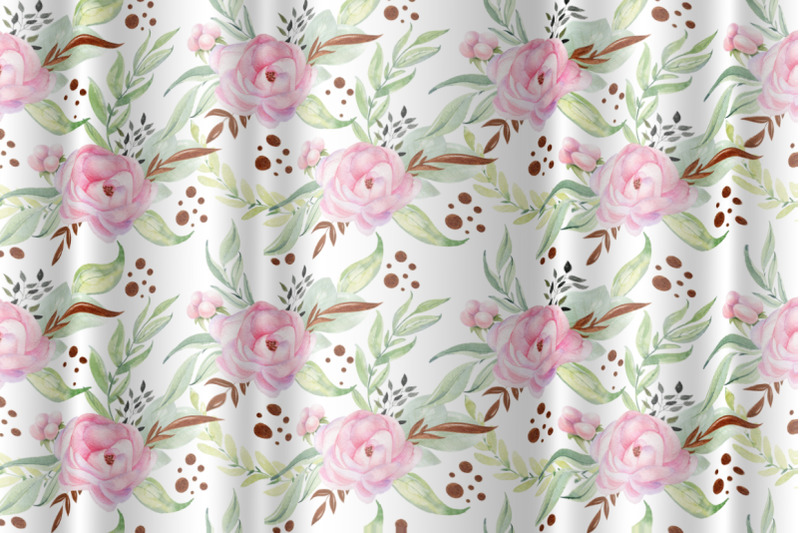 mom-and-baby-watercolor-seamless-patterns