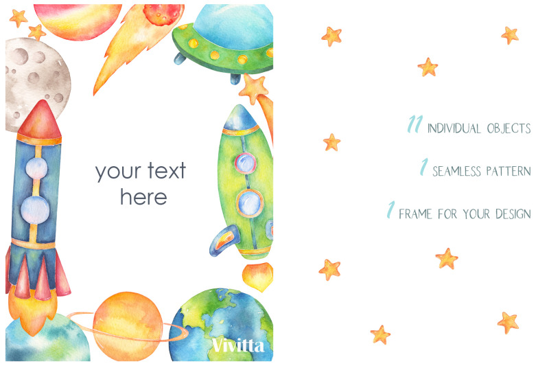 space-watercolor-clipart-collection-galaxy-planets