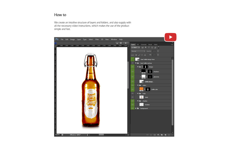 Download Glossy Box With Bottle Mockup Front View Yellowimages
