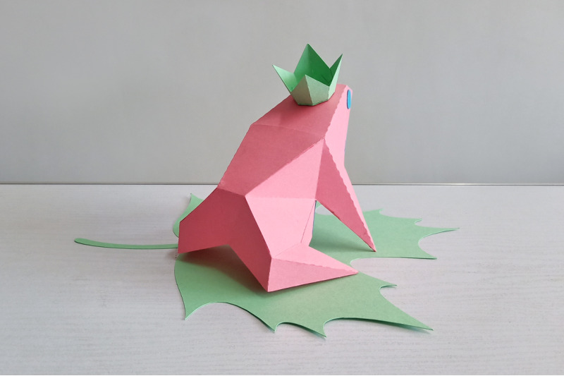 Diy Frog Prince 3d Papercraft By Paper Amaze Thehungryjpeg Com