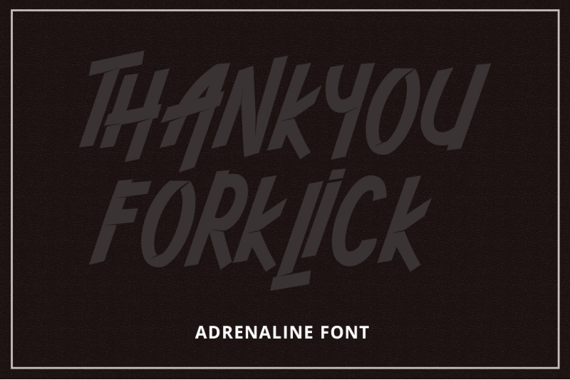 adrenaline-font