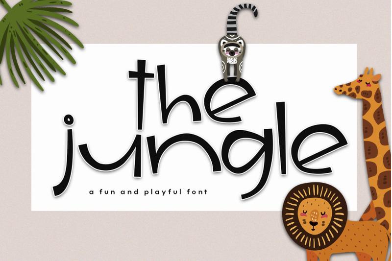 the-jungle-a-fun-handwritten-font