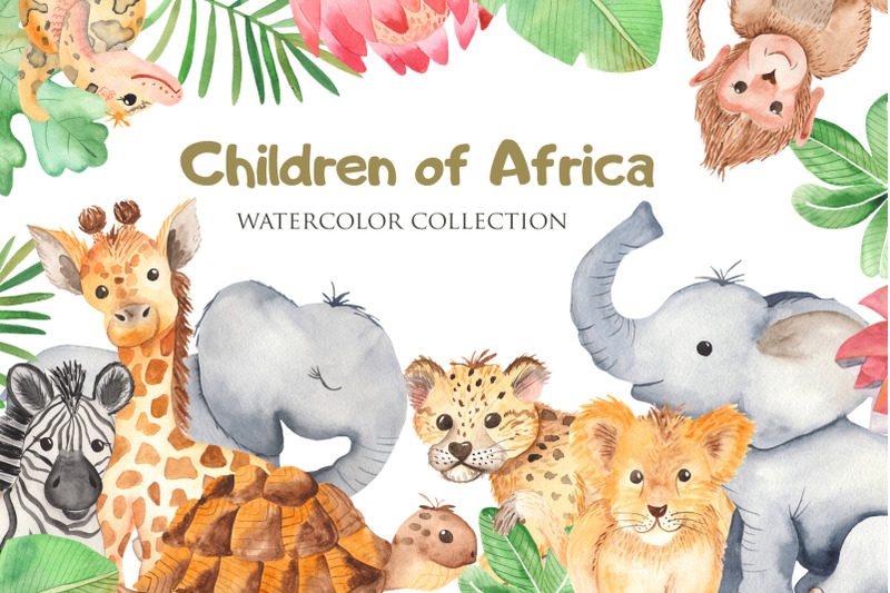 children-of-africa-watercolor-collection