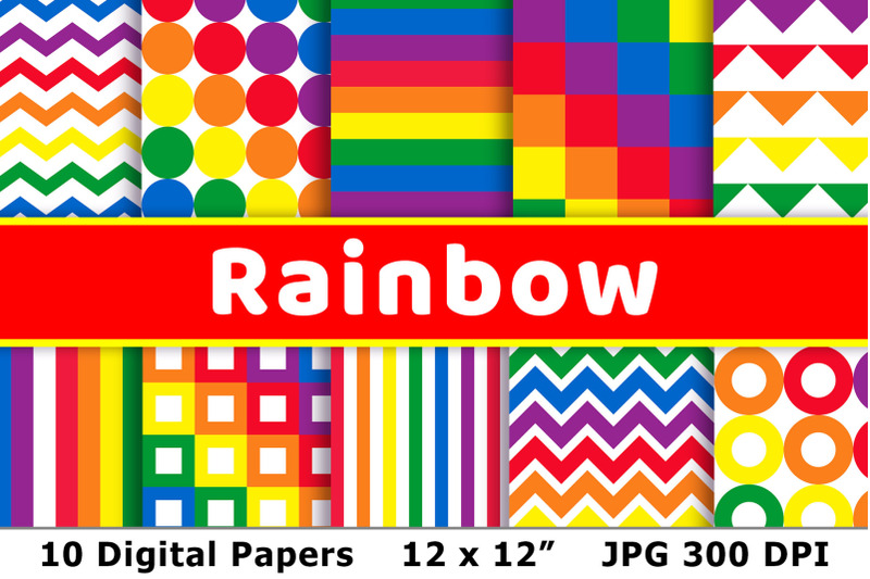 rainbow-digital-papers-rainbow-patterns