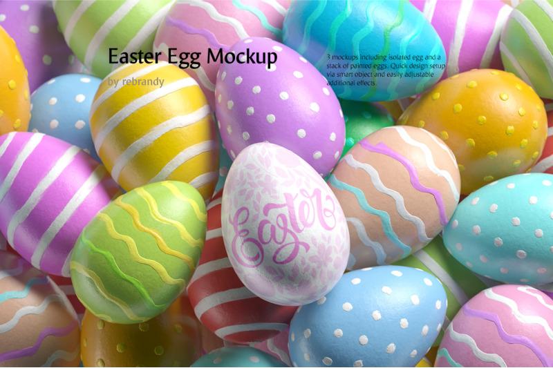Free Easter Egg Mockup (PSD Mockups)
