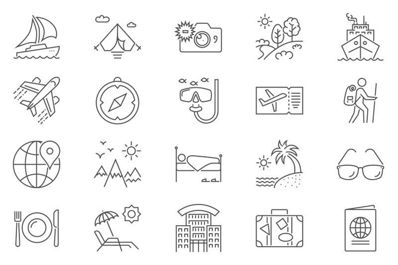 travel-icon-set