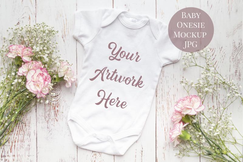 Free Babygrow Onesie Mockup (PSD Mockups)