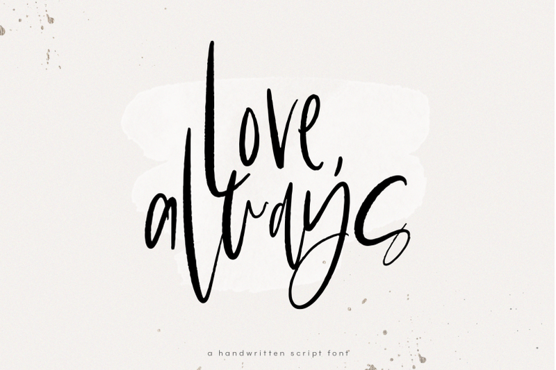 love-always-chic-handwritten-font