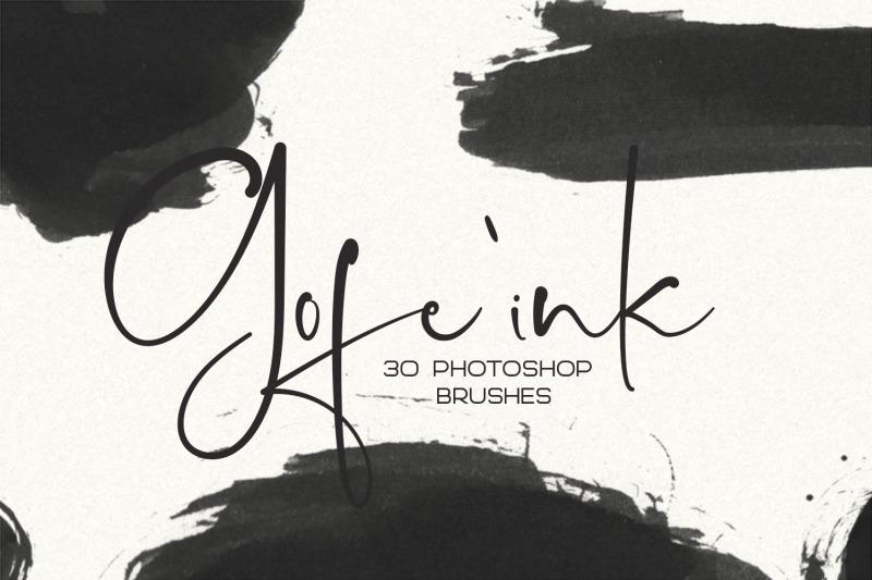 30-gofe-ink-photoshop-brushes