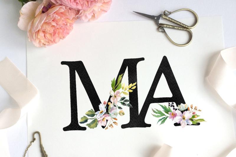 gold-flower-alphabet