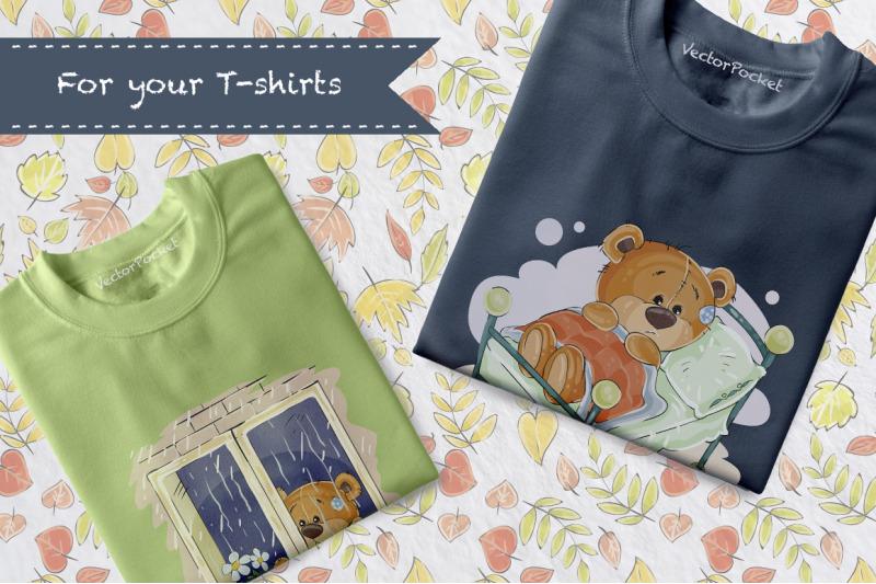 teddy-bears-in-the-fall