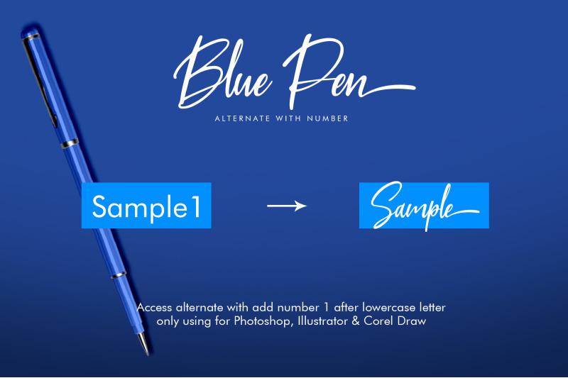 blue-pen-script-3-fonts