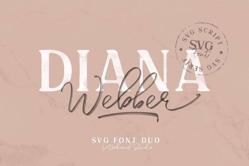 diana-webber-svg-font-duo