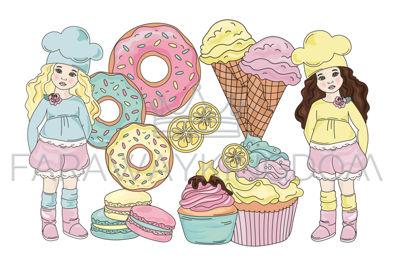 sweet-life-cartoon-confectionary-vector-illustration-set