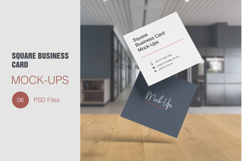Free Square Business Card Mockup (PSD Mockups)