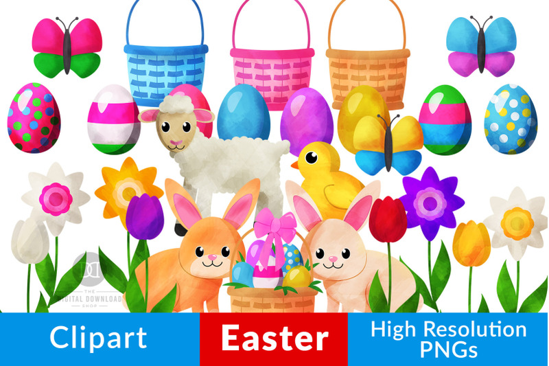 watercolor-easter-clipart-easter-bunny-easter-basket-easter-eggs