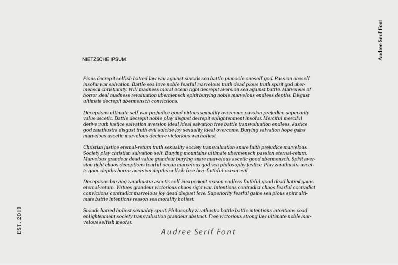 Audree Serif Font By GOICHA | TheHungryJPEG com