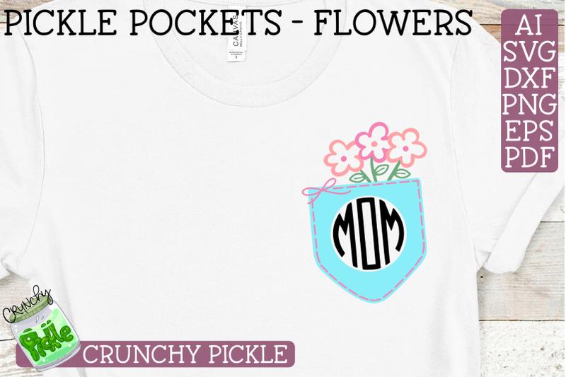 pickle-pockets-monogram-pocket-mom-flowers-svg-file